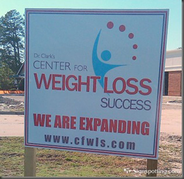 Looks like Dr Clark is confused about the definition of weight loss